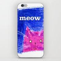 Crayon Cat iPhone & iPod Skin