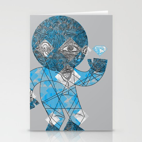 mesmerized by the light blue diamond Stationery Card