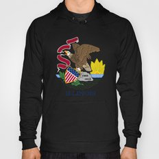 State flag of Illinois - Authentic color and scale Hoody