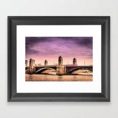 Longfellow Bridge, Boston MA Framed Art Print
