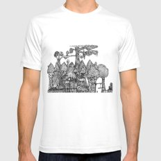 Bridge to the countryside  Mens Fitted Tee White SMALL