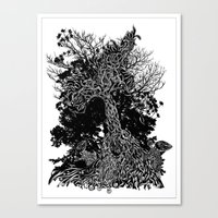 tree kids Canvas Print