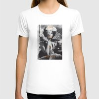 Come For Me, Darling Womens Fitted Tee White SMALL