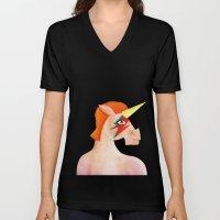 Unicorn Bowie Unisex V-Neck