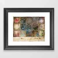 Watercolor Stained Window Framed Art Print