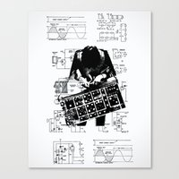 Synth Canvas Print