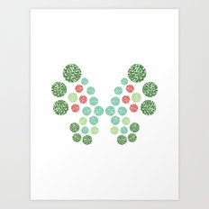 Vivillon Garden Form Art Print