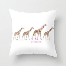 Stand Out - Giraffes Throw Pillow