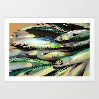 Seafood Market Art Print
