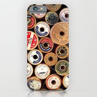 iPhone & iPod Case featuring Vintage Sewing Thread Spools by Christine Haynes
