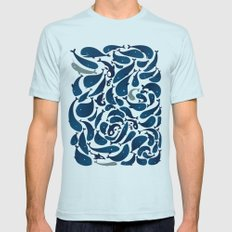 Whales Mens Fitted Tee Light Blue SMALL