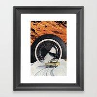 Burning Rubber Framed Art Print