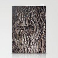 Oak tree trunk Stationery Cards