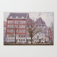 A rainy day in Amsterdam Canvas Print