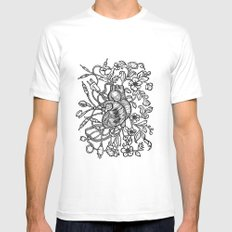 Electro Love Mens Fitted Tee White SMALL