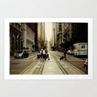 San Francisco Hills 2 Art Print