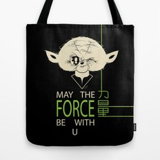 Starwars Yoda - May The Force Be With U Tote Bag