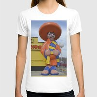 South of the Border Womens Fitted Tee White SMALL