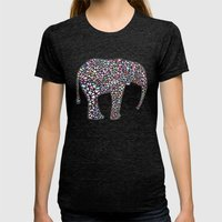 Elephant Womens Fitted Tee Tri-Black SMALL