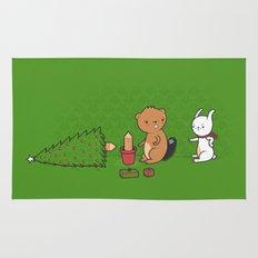 Beavers ruin Christmas Rug