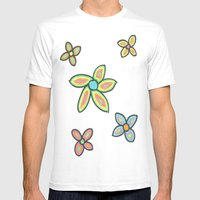 Fresh Flowers Mens Fitted Tee White SMALL