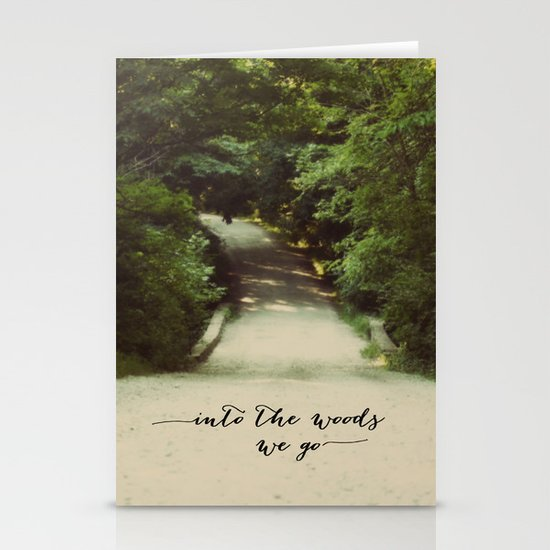 into the woods we go Stationery Card