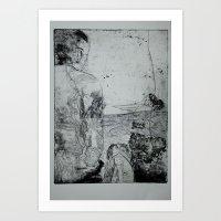 A Man and a Dog Art Print
