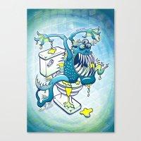 Toilet Monster Canvas Print