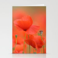 Common Red Poppies 1876 Stationery Cards