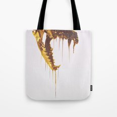 Painted Skull Gold Tote Bag