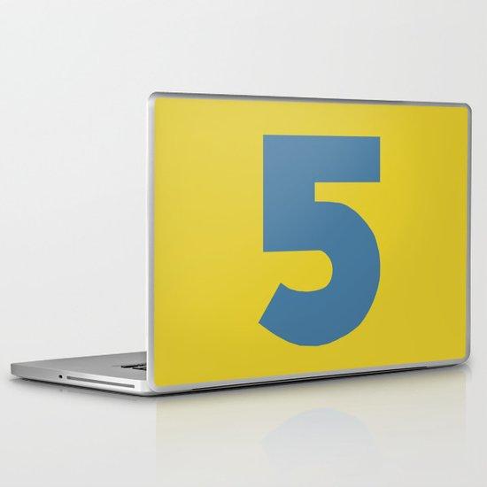 Number 5 Laptop & iPad Skin