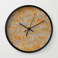 Natural embroidery Wall Clock