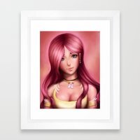 Fluttershy (older version) Framed Art Print
