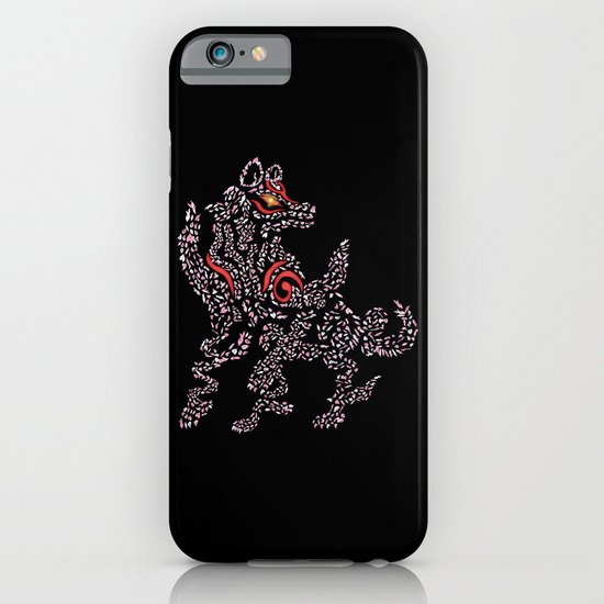 Okami Amaterasu - Cherry Blossom Form [BLACK] iPhone & iPod Case