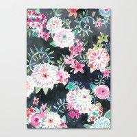 Flourish Floral Canvas Print