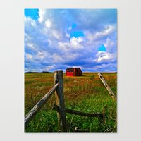 One Red Barn Canvas Print