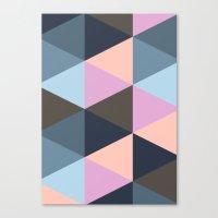 Triangle Meltdown Canvas Print
