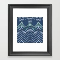 Navy Chevy Framed Art Print