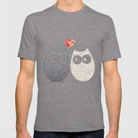 Owl Love Mens Fitted Tee Tri-Grey SMALL