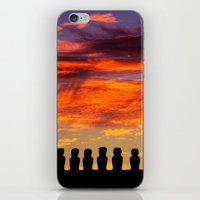 EASTER ISLAND SUNRISE iPhone & iPod Skin