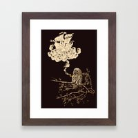 Wow! It's a ship! Framed Art Print