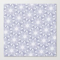 Pale flower pattern Canvas Print