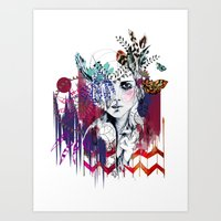 Tribal Girl  Art Print
