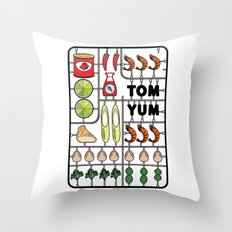 Tom Yum Assembly Kit Throw Pillow