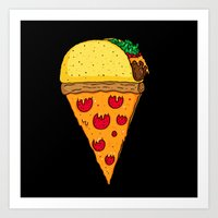 Taco Pizza Cone Art Print