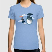 The Perfect Neighbor Womens Fitted Tee Tri-Blue SMALL