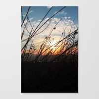 Sunset at the Lakes. Canvas Print