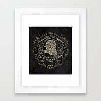 Scaphandre Framed Art Print