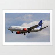 Scandinavian Airlines Bo… Art Print