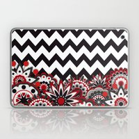 Floral Chevron. Laptop & iPad Skin